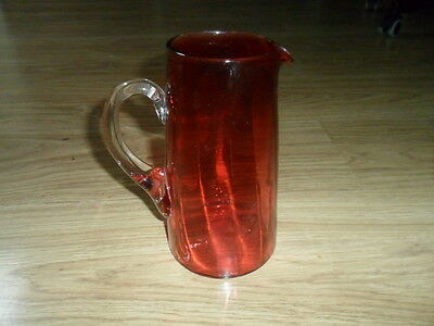 "A Fine Large Antique Victorian Cranberry Glass  Jug"" 19,1/2,cm,high,"