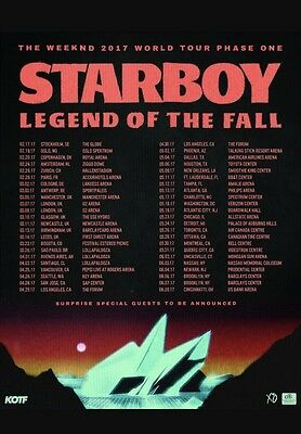 THE WEEKND STARBOY TOUR 5th MARCH 2017 MANCHESTER