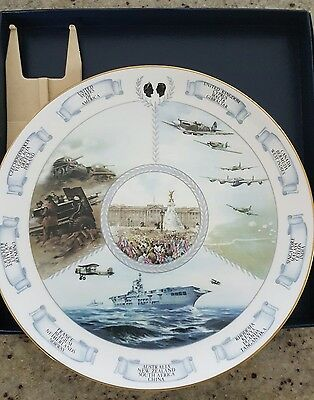 coalport 40th anniversary of 2nd world war collectors plate