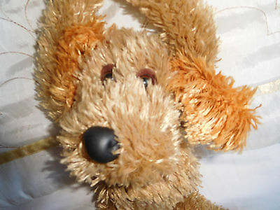 Cute hanging scruffy soft toy Teddy/Dog. Do not disturb and come in signs