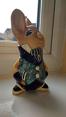 Pendelfin Rabbit Figurine. 'Uncle Soames' by jean Walmsley Heap