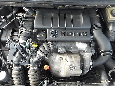 Peugeot Citroen 307 207 1.6 Hdi Engine Code 9Hz Tested A1 86K Complete 2007 Reg