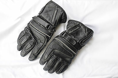 Black leather Buffalo motorcycle gloves XL extra large good condition