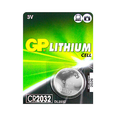 1 x GP Lithium CR2032 battery 3V Coin Cell DL2032 BR2032 Remote Watch