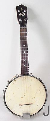 Vintage Wizard Banjo Uke Ukulele Fresh Set Up  Read More
