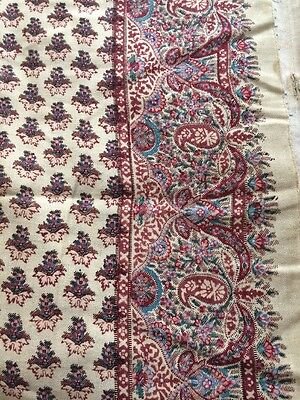 Antique Kashmiri Victorian Fine Wool Paisley Massive Shawl Throw 10ftx5ft