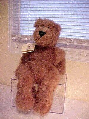 Charming NED Honey Brown Jointed Teddy Bear * Hand made BY BEARS * With Tag