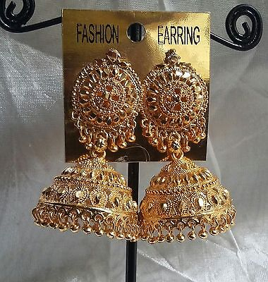South Indian Gold Plated Bridal Fashion Women Jhumka Jhumki Earrings Jewelry