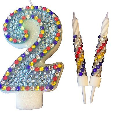 Paw Patrol Birthday Candle Diamanté Set Cake Topper Party All Numbers
