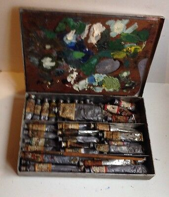 Paint box Windsor And Newton Artist Quality Oil Paints-41 Tubes - all Tubes Soft