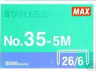 Max Flat Clinch Staples # 35-5m for Desktop Standard