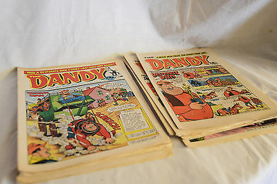 Joblot 10 vintage 1987 - 1989 DANDY COMICS, Desperate Dan etc.