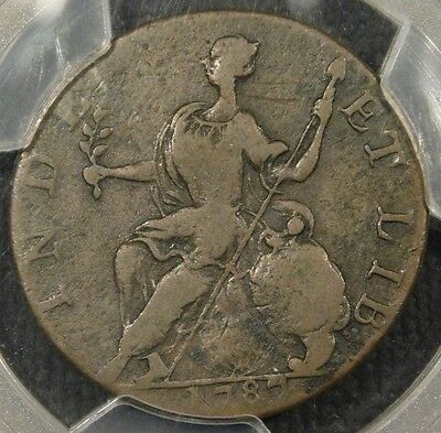 1787 PCGS VF30 Horned Mail Bust Left Connecticut Colonial Copper Coin