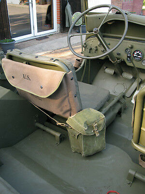 US ARMY CANVAS MAP CASE KARTENTASCHE Willys Jeep MB M201 Hotchkiss Ford GPW