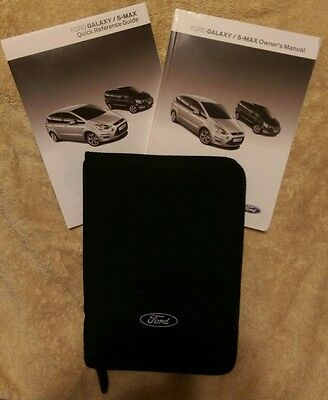 Ford Galaxy & S-Max Owners Manual Handbook Pack  & Wallet 2013