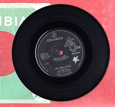 THE PINK FLOYD See Emily Play / Scarecrow - COLUMBIA Solid Centre DB8214 1967 UK