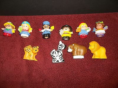 Lot 10 Fisher Price LITTLE PEOPLE  -people and animals