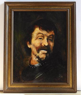 "Antique or Vintage Oil Painting ""Portrait of a Man"", 19.5"" x 15.5"" framed"