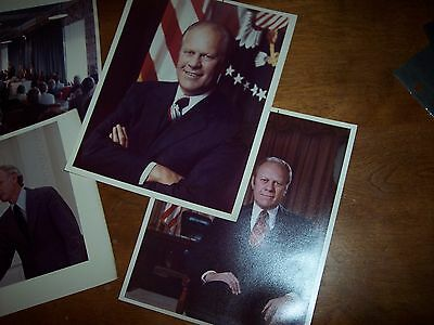 Nice 8 x 10 Photos of President Gerald Ford in the White House Dated 1975