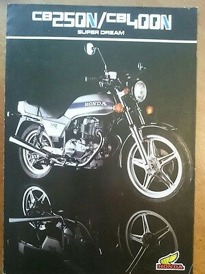 HONDA CB250N + CB400N Super Dream Motorcycle Sales Brochure 1980