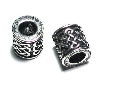 Handmade Celtic knotwork Pewter Beard / Dreadlock Bead. Viking, Norse, Odin,