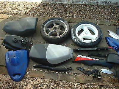 Job Lot Of Scooter Parts To Include Wheels / Fairings And Honda Fuel Tank