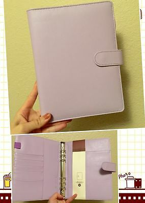 light purple lavender planner organizer A5 large desk size PU leather NEW 6ring
