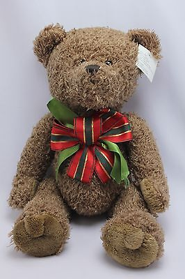 "Dan Dee Collectors Choice NEW Brown Bear Size 17"" With Bow"