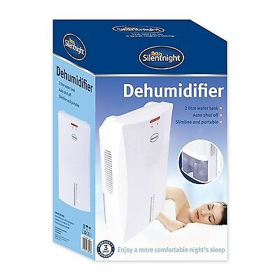 Silentnight 38040 Compact Room Dehumidifier 2 Litre White