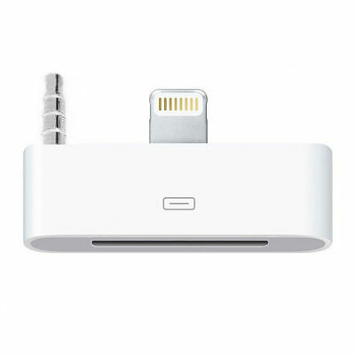 Adaptateur dock audio iPhone 4 30 broches vers 8 pin pour iPhone 6 6S - Blanc