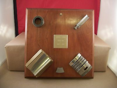 Vintage Shell Oil Presentation Plaque - Service from 1947 to 1983