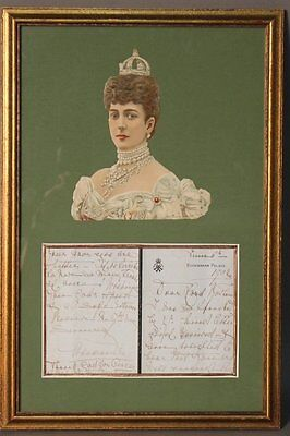 Edwardian Royal Autograph Letter From Queen Alexandra to Lord Haldane