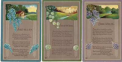 Abide with Me/Sun of My Soul/Just as I Am - Flowers/Hymns - 3 x PCs (2124)