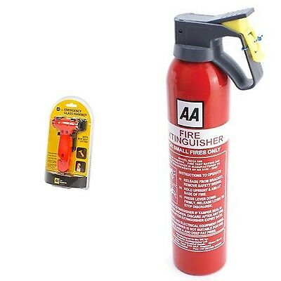 AA Car Essentials Emergency Car Hammer-5060114616240 & AA Fire Extinguisher 9...