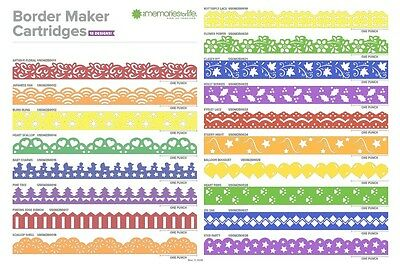 Border Maker Cartridges to use w/ Creative Memories system star, antique, shell