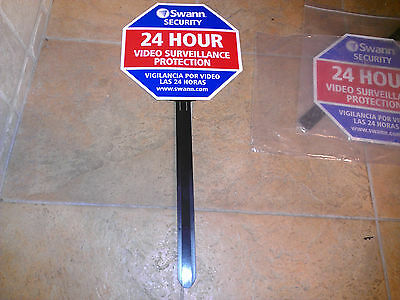 2X Swann Communications Security Deterrent Sign SW276YSS English & Spanish NEW