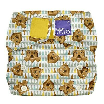 Bambino Mio Miosolo All-In-One Reusable Nappy Onesize Grizzly