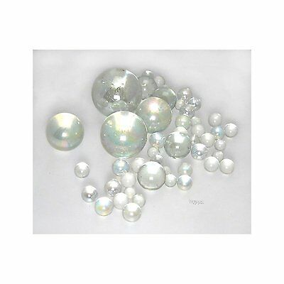 'Bubbles'  A Decorative Selection of 75 Clear Glass Marbles in Various Sizes