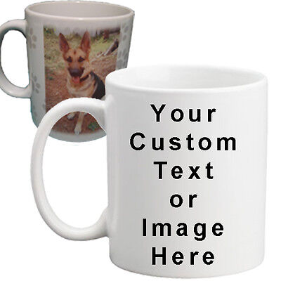 New Custom Personalized Ceramic  Image Text 11 Ounce Coffee Mug