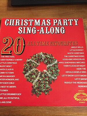 Christmas Party Sing Along 20 All Time Favourites Hallmark Shm 811 Vintl Lp