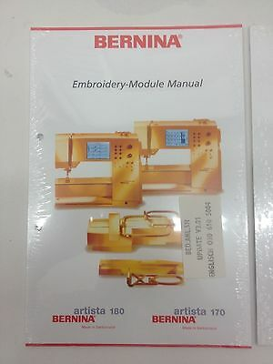 NEW Bernina 170/180 Embroidery-Module Instruction Manual Book
