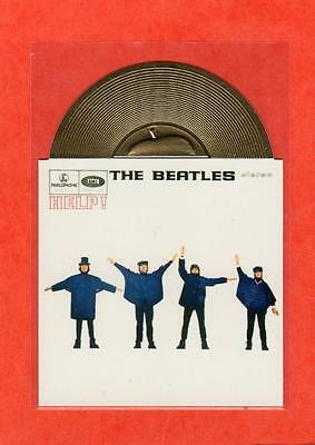 The Beatles US Sports Time 1996 Gold Record Card #5 HELP!