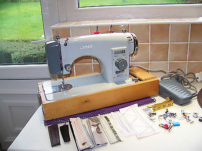 Heavy Solid Jones Brother 'windowdial' Semi Industrial Sewing Machine,new Attach