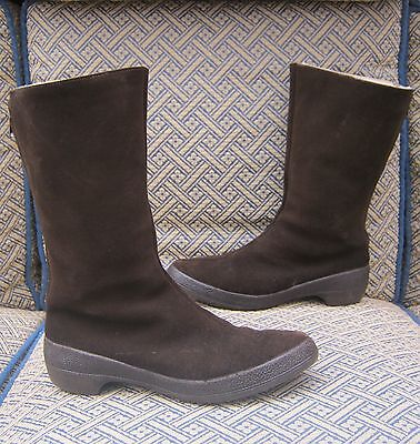 vintage 50s 60s CLARKS REAL SHEEPSKIN  BOOTS size 5