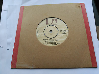 7'' Bobby Goldsboro - Summer (The First Time) - Ua Uk 1973 Vg+