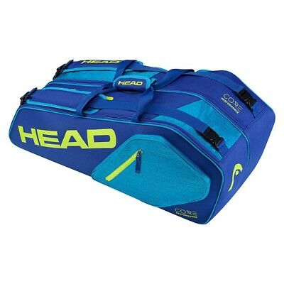 Head Core Combi Tennis Racket Bag -  Blue/Green - 6 Racket