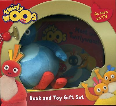 Twirly Woos Book and Toy Gift Set New