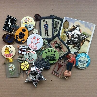 A group of badges inc petrol cowboys  Henley cycling etc