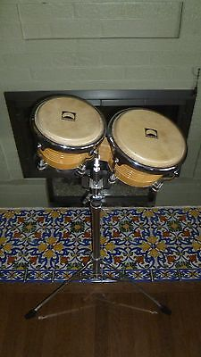 Bongo Drums Rhythm Tech Alpha Series RT5200 With Stand RT5250
