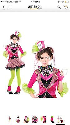 """Girls """"Mad Hatter """" dress up costume by Christys. size ( age 12-14)"""